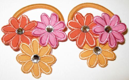 Gymboree Pony O Ponytail Holders Pairs Sets Vintage Rainbow Spring Poppies Mod