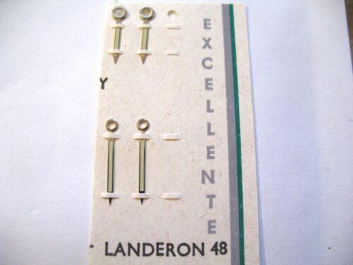 15MM LANDERON 48  1 x PAIR SILVER LUMINOUS HANDS MINUTE 13MM HOUR + MINUTE