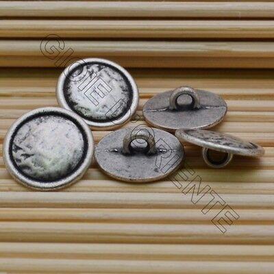 bottoni  in metallo 20 MM 6 pz colore oro antico  per le tue creazioni