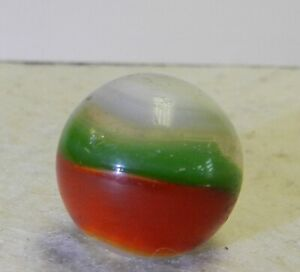9974m Large .73 Inches Vintage Akro Agate Red and Green Popeye Marble