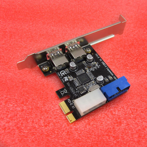 2 Ports PCI Express USB 3.0 Front Panel with 4-Pin /& 20 Pin Control Card Adapter