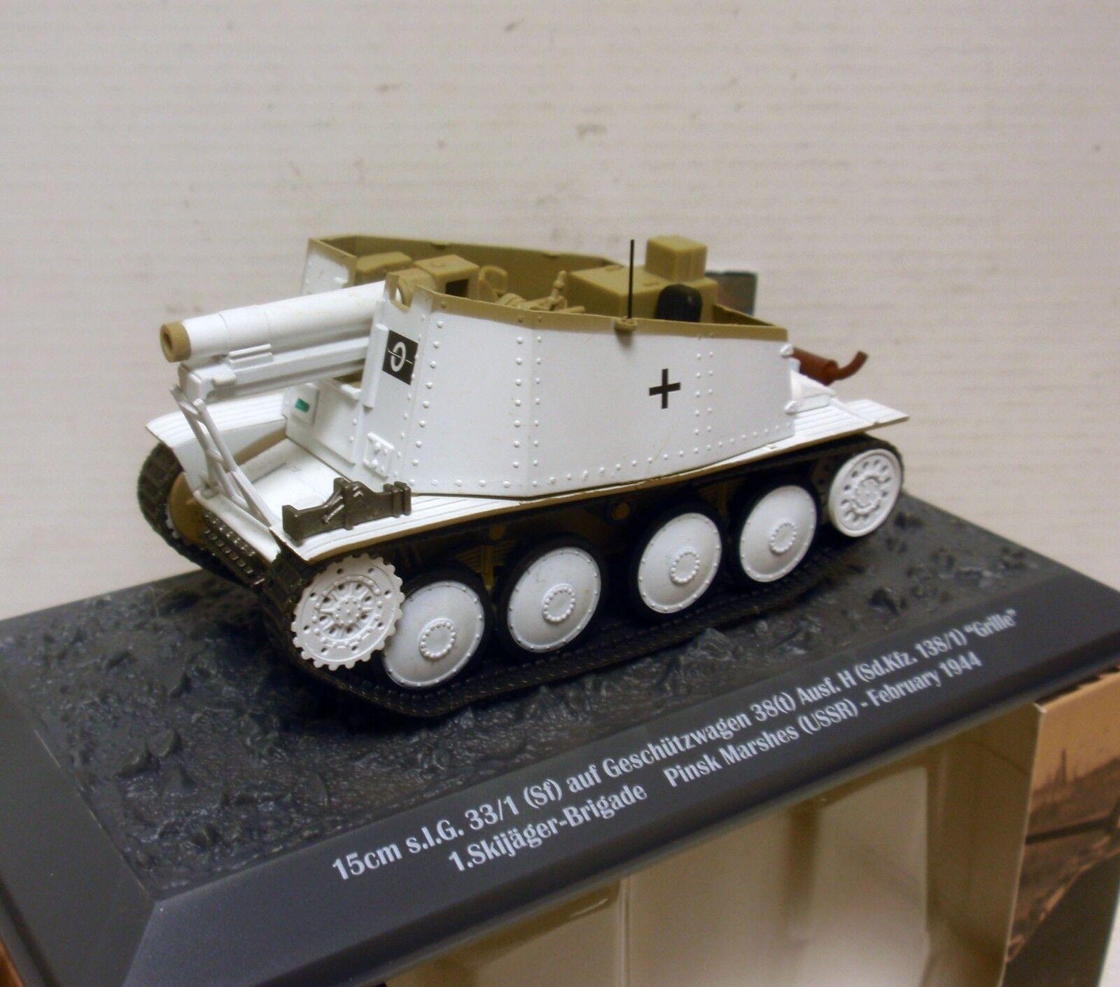 TANQUE TANK 15 cm SIG 33 1 138 1 GRILLE SKIJAGER PINSK MARSHES 1944 1 43 ALTAYA
