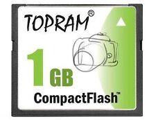 TOPRAM 1GB CF 1G Compact Flash 120X memory card high Speed SLC w/case