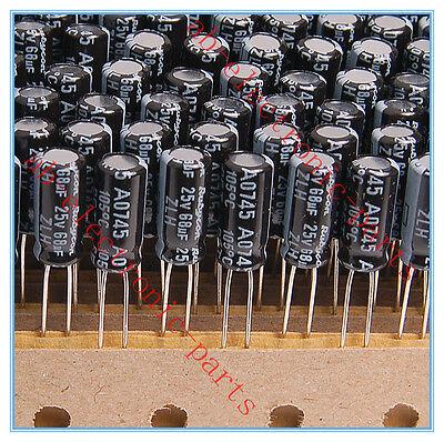 30pcs 68uf 25v Rubycon Radial Electrolytic Capacitors 5x11mm ZLH 25v68uf