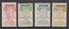 Argentina, Santa Fé, Forbin 259A/269A used 1908 General Tax Fiscals, 4 Talon