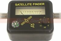 Satellite Signal Finder - Analog Dish Directtv Strength Meter Buzzer Compass Fta