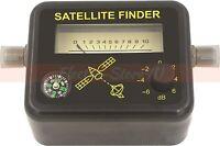 Satellite Signal Finder - Analog Dish Directtv Strength Meter Buzzer Compass Fta