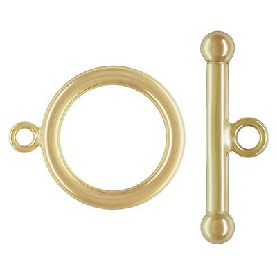 Bar Jewellery Clasp 11mm 18ct Red Rose Gold Plated Sterling Silver Toggle