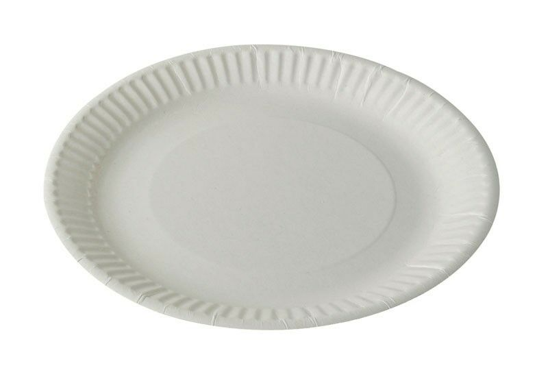 1000 x Economy Paper Plates 19cm   7  Paper Disposable Plates