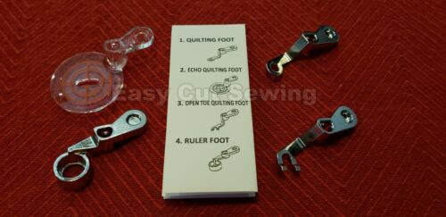 9500 9600 5 PC Free Motion Darning Foot Ruler,Clear Echo Quilting ELNA 720,740