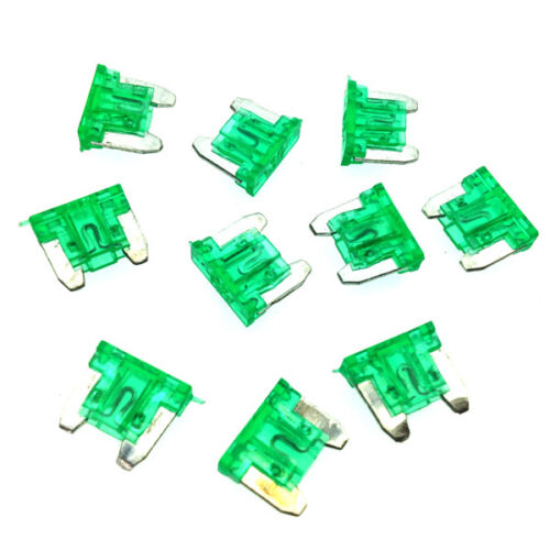 Pack of 10 30A Green LOW PROFILE MINI Blade Fuse Car Auto APS ATT 30 Amp