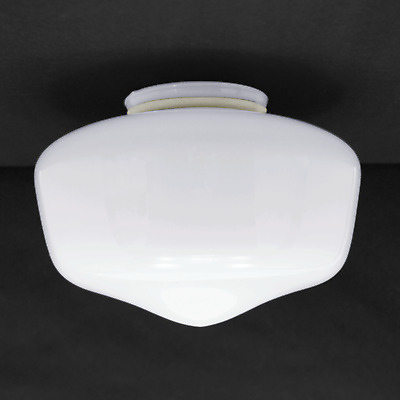Globe Replacement 7 Quot White School House Light Glass Shade