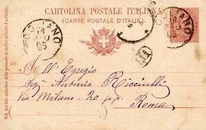 ANTIQUE ITALIAN POSTCARD 1899 SEAL