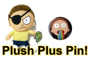Rick-and-Morty-10-034-Evil-Morty-Plush-Toy-Officially-Licensed-Plush-Toy-with-pin