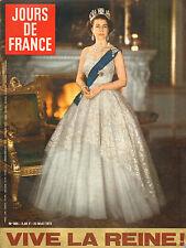 jours de france n°909 elisabeth II la coccinelle robert hirsch c. cardinale 1972