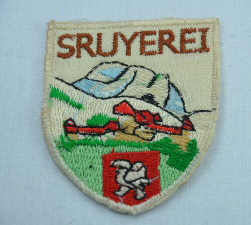 SWISS SWITZERLAND ALPS  Embroidered Iron Sew On Cloth Patch Badge  Applique B