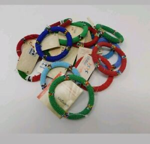 Maasai African Beaded Bracelets Round Jewelry For