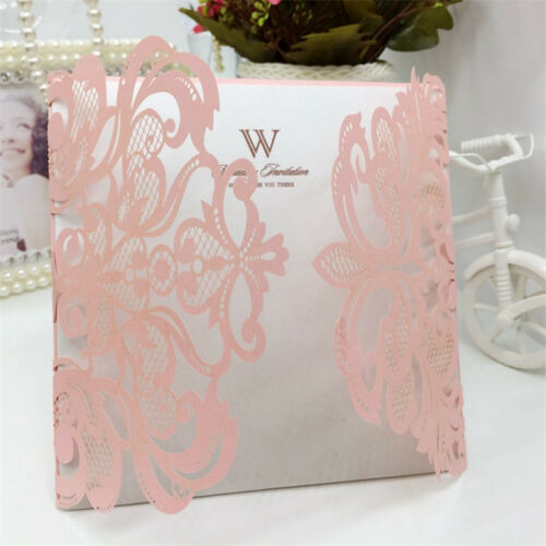 10PCS Wholesale 6inch Laser Cut Wedding Invitation Cards Party Evening Favor