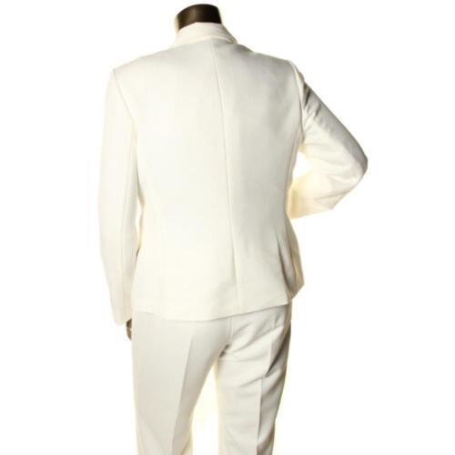 2 bottoni Suit giacca a pantaloni e New 240 Ivory Qco Herringbone lunghe Le 8 maniche dXq1wY1