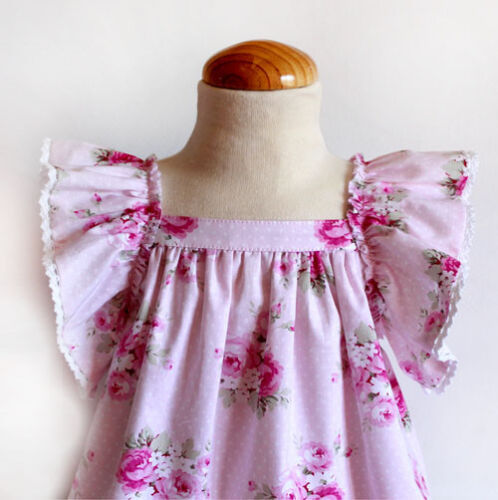 SEWING PATTERNS Paper Pattern Printed pattern Girl/'s DRESS Roses BOHO style