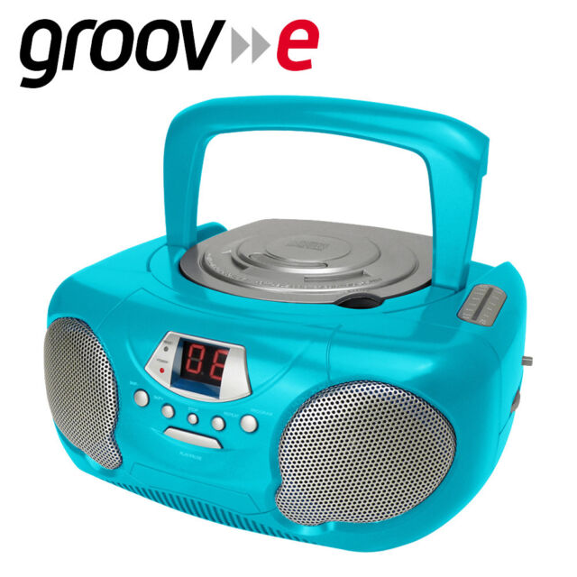Groov E Gvps733tl Original Boombox Portable Cd Player With Radio Teal Uk Plug For Sale Online Ebay