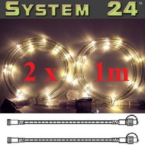 System 24 LED Lichtschlauch 2x1m extra warmweiß 491-30 außen xmas