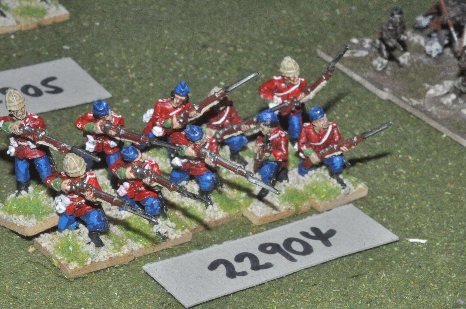 25mm 19th century   british - zulu war (plastic) 10 figures - inf (22904)