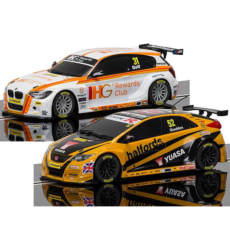 Scalextric Digital Arco Pro Slot Cars BTCC, BMW Goff & Honda Shedden