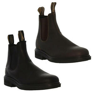 b12b5ec68960 Blundstone 062   063 Mens Brown Black Leather Chelsea Ankle Boots ...