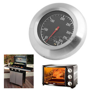 60-430-Stainless-Steel-BBQ-Smoker-Grill-Thermometer-Temperature-Gauge
