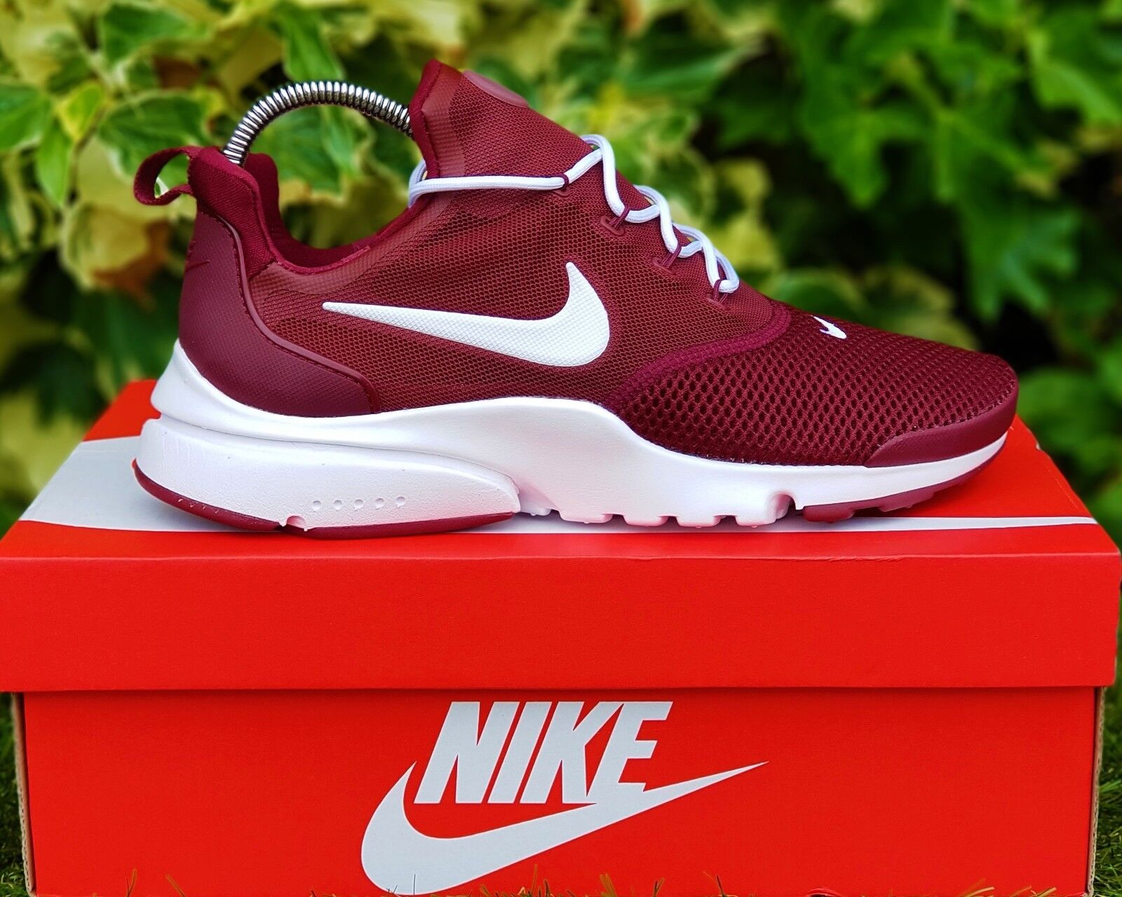 BNWB & Authentique NIKE AIR Presto Fly ® Dark équipe Rouge Baskets Taille UK 7