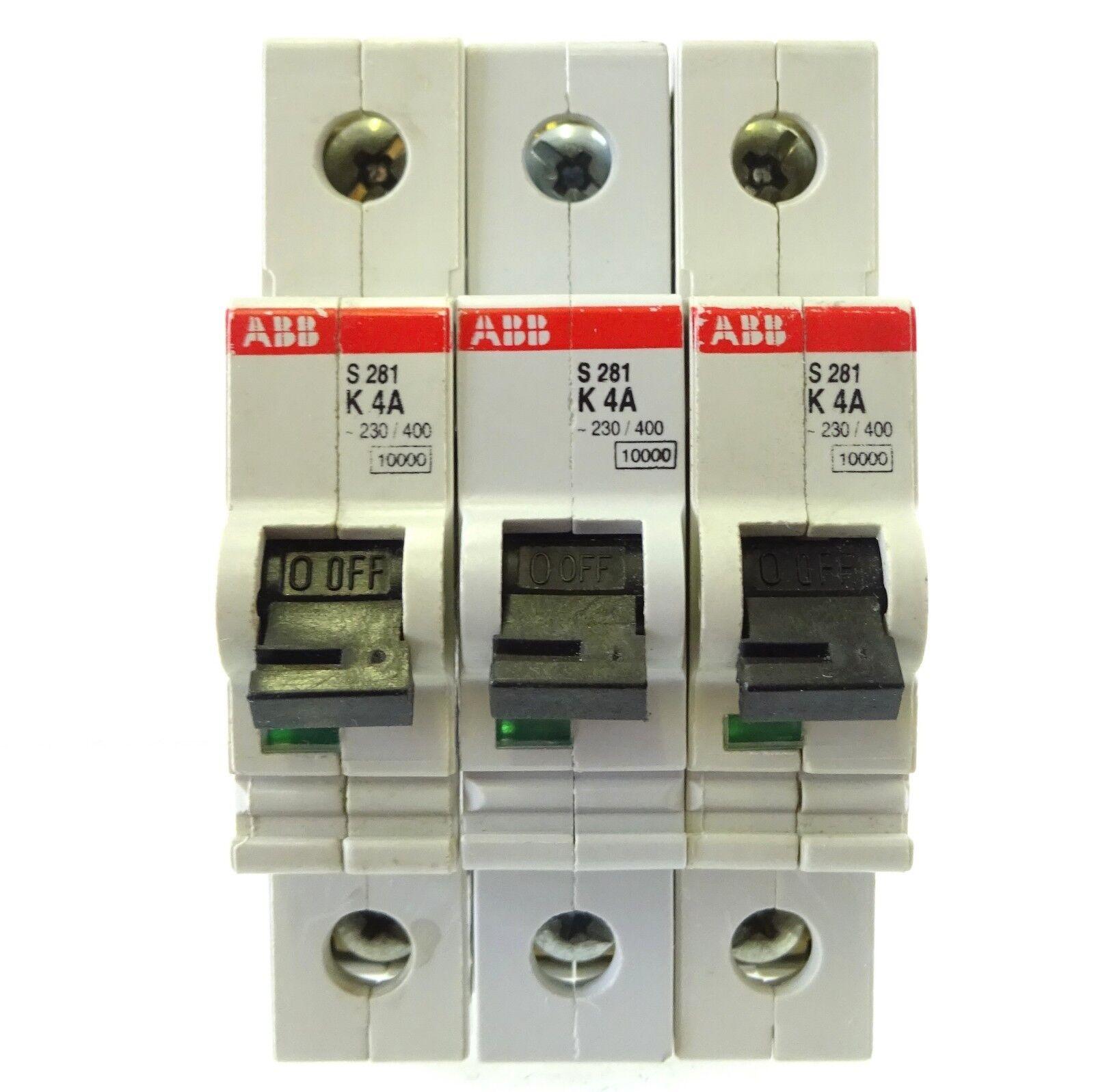 ABB S272 Sicherungsautomat  K4 A Leitungsschutzschalter 2 pol   Inkl Rechnung