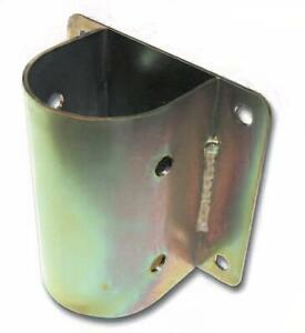 Pied de poteau rond pour anchor mur, support galvanisé pour poutre rond angrage