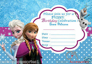 20x frozen elsa party invitations kids childrens invites birthday image is loading 20x frozen elsa party invitations kids children 039 solutioingenieria Image collections