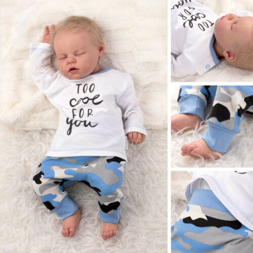 Baby Sweets Jungen Set Shirt Hose blau weiß grau Camouflage Too Cool For You