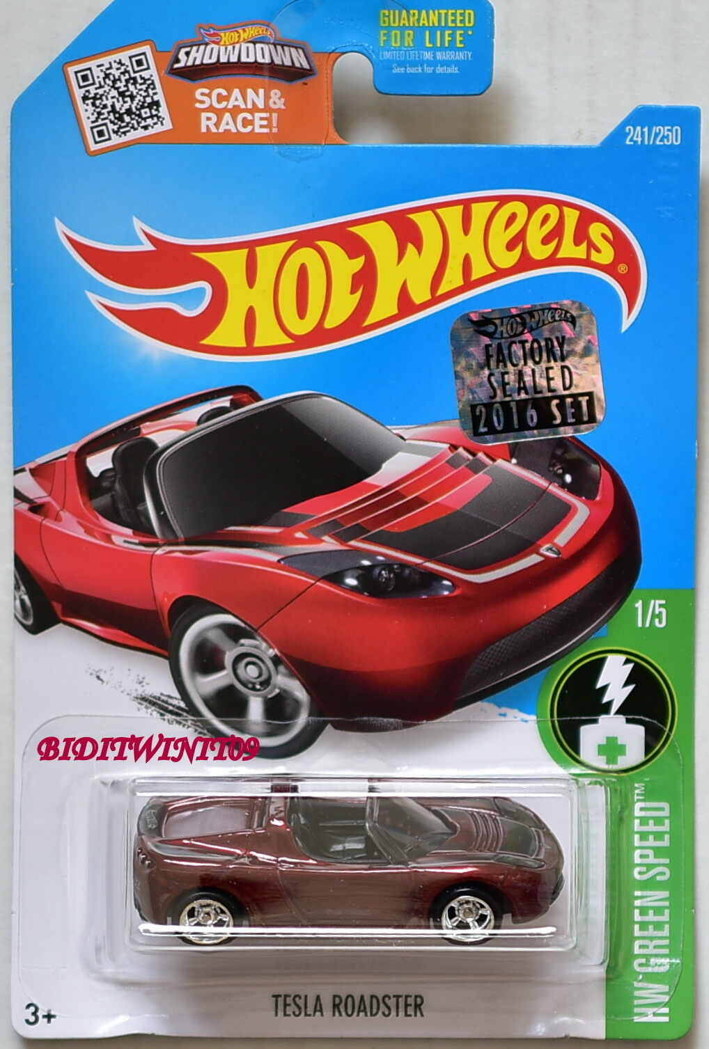 Hot Wheels 2016 Super trasure Hunt Tesla Roadster rouge FACTORY SEALED