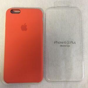 on sale dcb3e d6ebe Details about Apple Orange Silicone Case iPhone 6S PLUS
