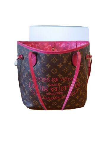Luis Vuitton Ikat Pink Floral Mm tote bag limited
