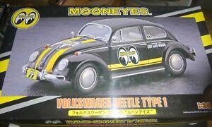 Hasegawa 20338 Mooneyes Volkswagen Beetle Bug Tipo 1 Modelo 1/24 Montaña de Coche Nuevo en Caja