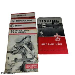 Boy Scouts Of America Merit Badge Series - 5 Book Lot 1960 &1983