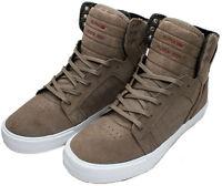 Supra Skytop Shoes Dark Khaki/white S18263 Sz 8 - 13