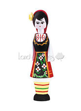 SOUVENIR VIAL WITH PERFUME DAMASK ROSE ESSENCE 2ML - GIRL IN TRADITIONAL COSTUME