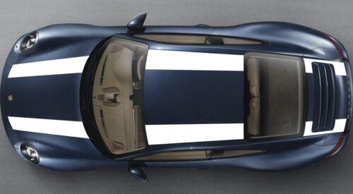 911R Style Compatible Avec Porsche 911 991 Capot Toit Coffre Spoiler Stripe Decal Set Plain