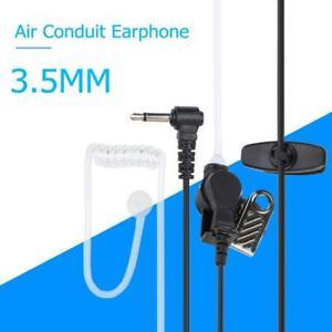 Transparenter-Acoustic-Tube-Ohrhoerer-Stereo-Kopfhoerer-3-5-mm-Mono-Jack-Headset