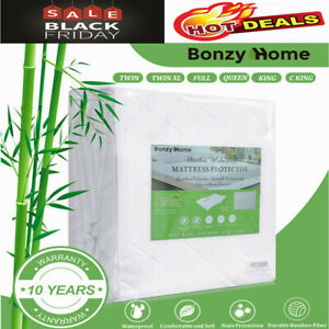 Mattress-Cover-Topper-Bed-Protector-Premium-Bamboo-Waterproof-Soft-Dual-Layer