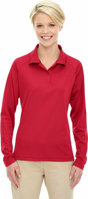 18cab291 cheapest extreme womens long sleeve polyester performance pique polo shirt  tee. 75061 d1b5f 8cfc5