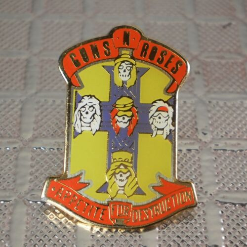 Guns 'n Roses Appetite For Destruction pinback button pin Brockum Official