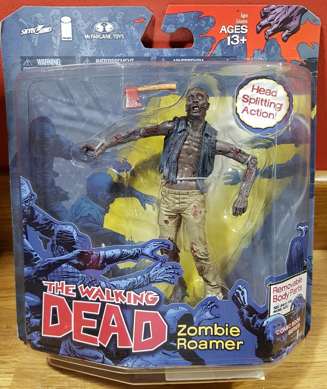 Series 1 Walking Dead Comic Series Zombie Roamer 5  toy action figure boxed RARE
