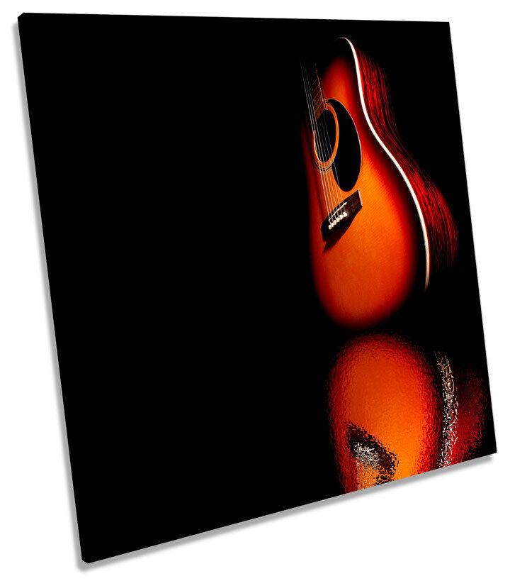 Guitar Musical Instrument SQUARE CANVAS Wand Kunst Bild Drucken