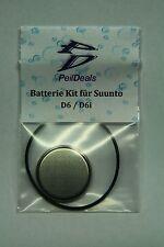 Batterie - Kit Set für Tauchcomputer SUUNTO D6 / D6i